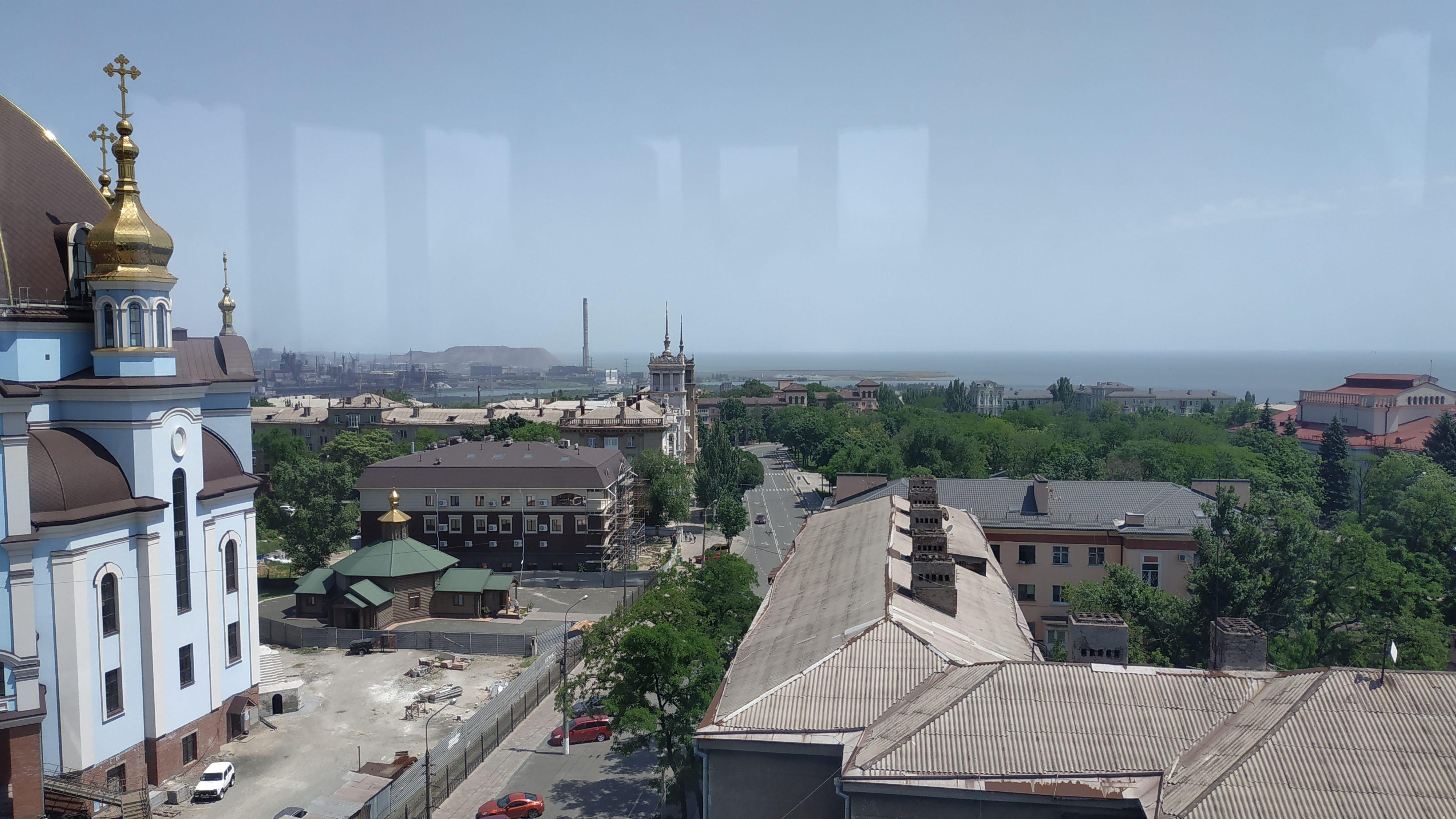Panorama sulla zona industriale di Mariupol - foto di Claudia Bettiol