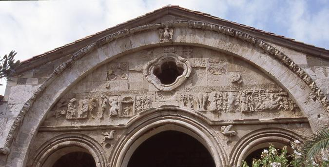 South Portal with reliefs, Aghia Sophia, Trabzon