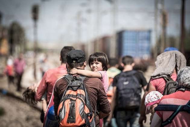 Refugees in Macedonia - (International Federation of Red Cross/Flickr)