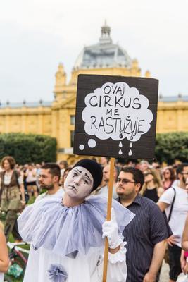 """Zagabria """"Questo circo mi rattrista"""" (foto G. Vale)"""