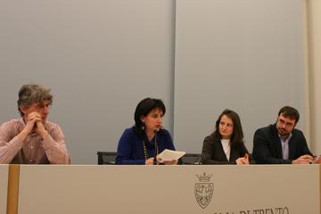 Da sinistra Matteo Orsingher, Lia Giovanazzi Beltrami. Luisa Chiodi e Matteo Vittuari