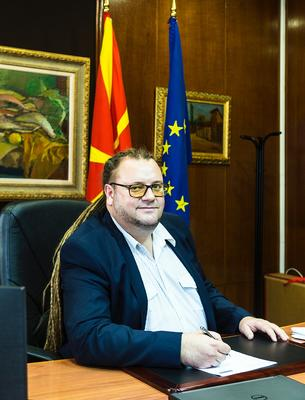 Robert Alagjozovski, the new Minister of Culture (ph. G. Vale)