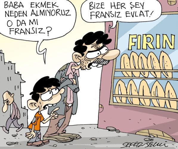 – Papà, perché non compriamo il pane? Anche quello è francese? – Figliolo, per noi ogni cosa è francese!