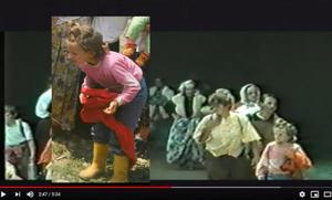 Selma Musić, ritratta in un frame del video TV Živinice