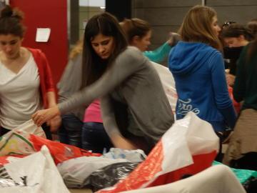 Durante gli aiuti a Belgrado (foto F. Sicurella)