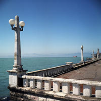 Il Mar Nero a Soukumi, capitale della repubblica autoproclamata dell'Abkhazia