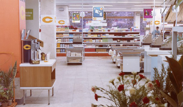 Il supermercato Centroprom a Belgrado nel 1972, foto dell'archivio del Museo della storia della Jugoslavia