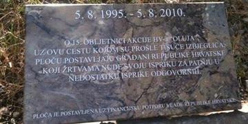 Targa in memoria delle vittime civili Oluja