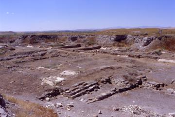 Quello che resta del Tempio di Zeus nell'antica Gordio. Qui era custodito il carro con il nodo reciso da Alessandro. Foto di F. Polacco