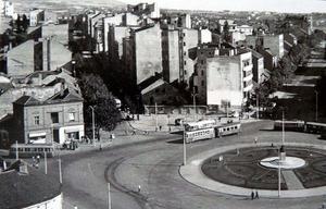 La piazza nel 1951