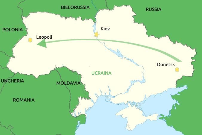 Da Donetsk a Leopoli