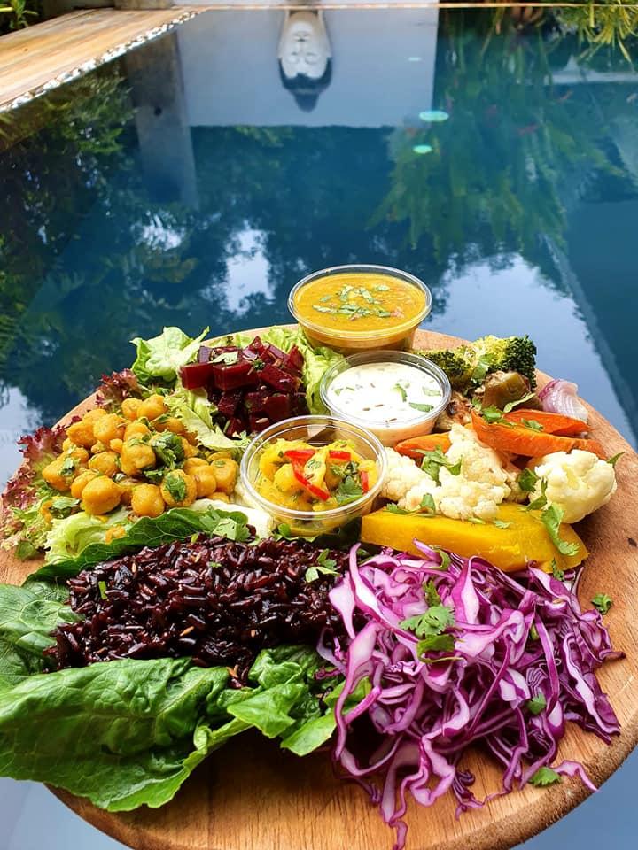 Un piatto del Vegan Villa