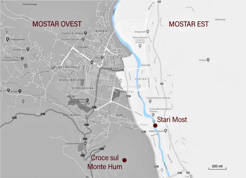 Mappa della città fornita da Mariangela Pizziolo