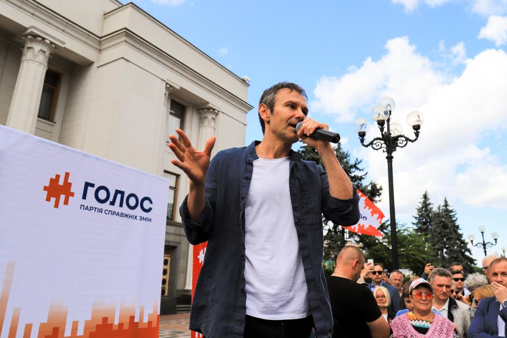 La rockstar Svyatoslav Vakarchuk a Kiev (foto © rospoint/Shutterstock)