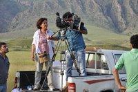 La regista curda irachena Viyan Mayi. Il suo 'Colomba bianca' è stato proiettato al Festival del cinema curdo di Roma