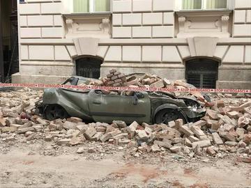 Zagabria dopo il terremoto (foto © Vjeran Pavlaković)