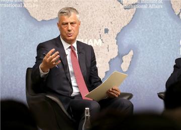 Il presidente kosovaro Hashim Thaçi (Dominic Dudley/Shutterstock)
