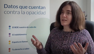 Ángela Bernardo, data journalist at Civio