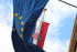 Zagabria, bandiere europea e croata - foto di N.Corritore