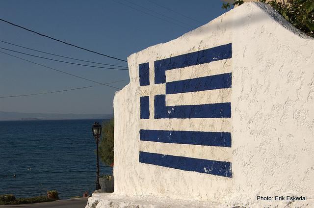 Greece wallflag, foto di Erik Eskedal - Flickr.com