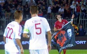 Il drone del match Serbia-Albania