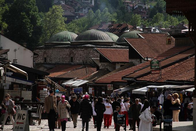 Sarajevo, Bascarsija, foto di Andreas Lehner - Flickr.com.jpg