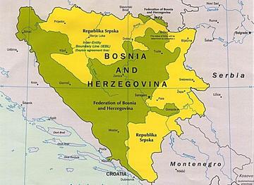 Mappa Bosnia Erzegovina