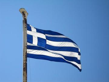 Bandiera greca, foto di Adamsofen - Flickr.com