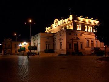Sofia, parlamento by night, foto di Elmyra - Flickr.com