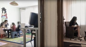 """Uno screenshot del videoreportage """"La casa delle donne"""""""