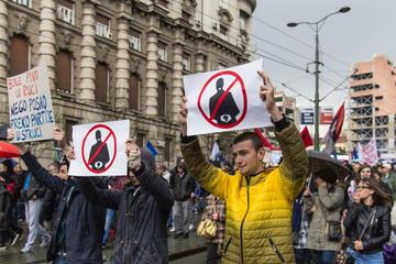 Serbia, proteste aprile 2017 - foto GIovanni Vale.jpg