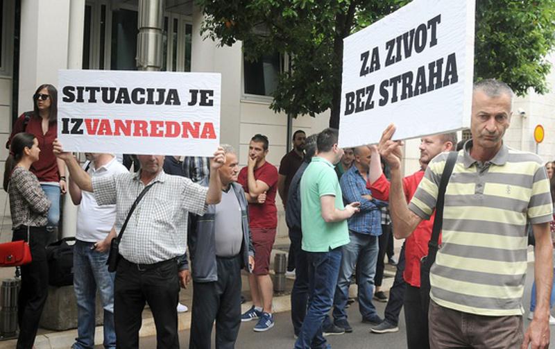 Manifestazioni a Podgorica dopo l'agguato a Olivera Lakić (Vijesti)