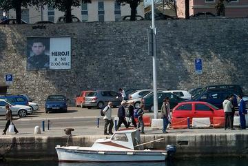Ante Gotovina eroe sui muri di Zara, foto di Isafrancesca - Flickr.com