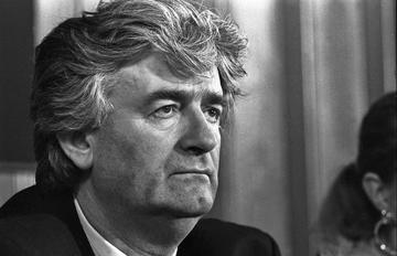 Radovan Karadzic, giugno 1992 Belgrado presso press Center Tanjug - foto © Mario Boccia