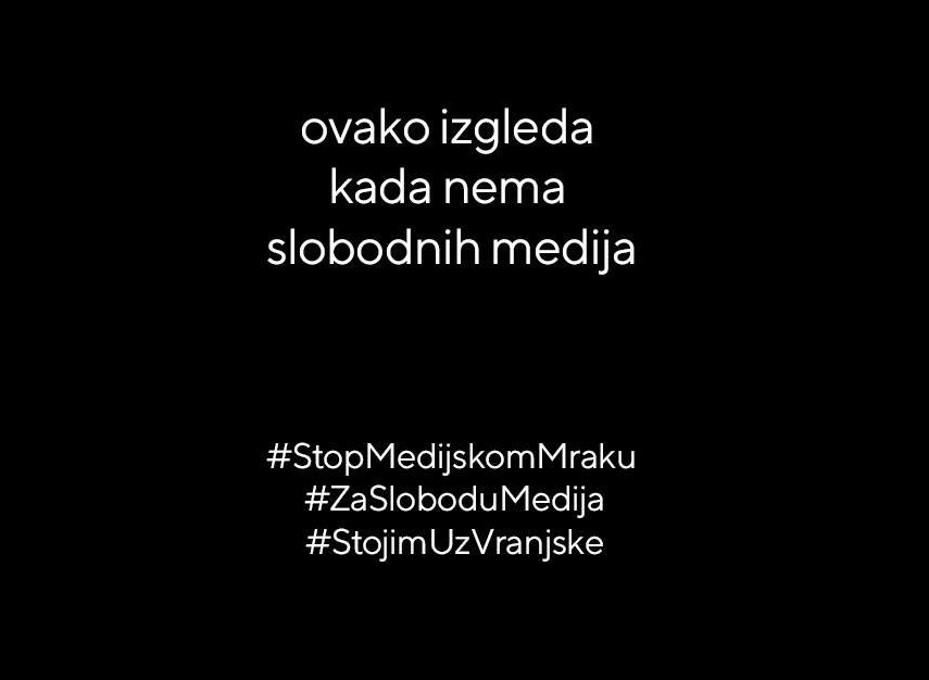 Serbia, campagna stop al buio mediatico