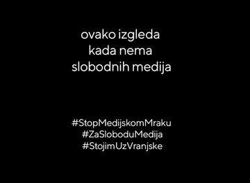 Serbia, campagna stop al buio mediatico (Slavko Ćuruvija fond)