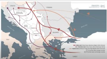 Mappa rotta balcanica