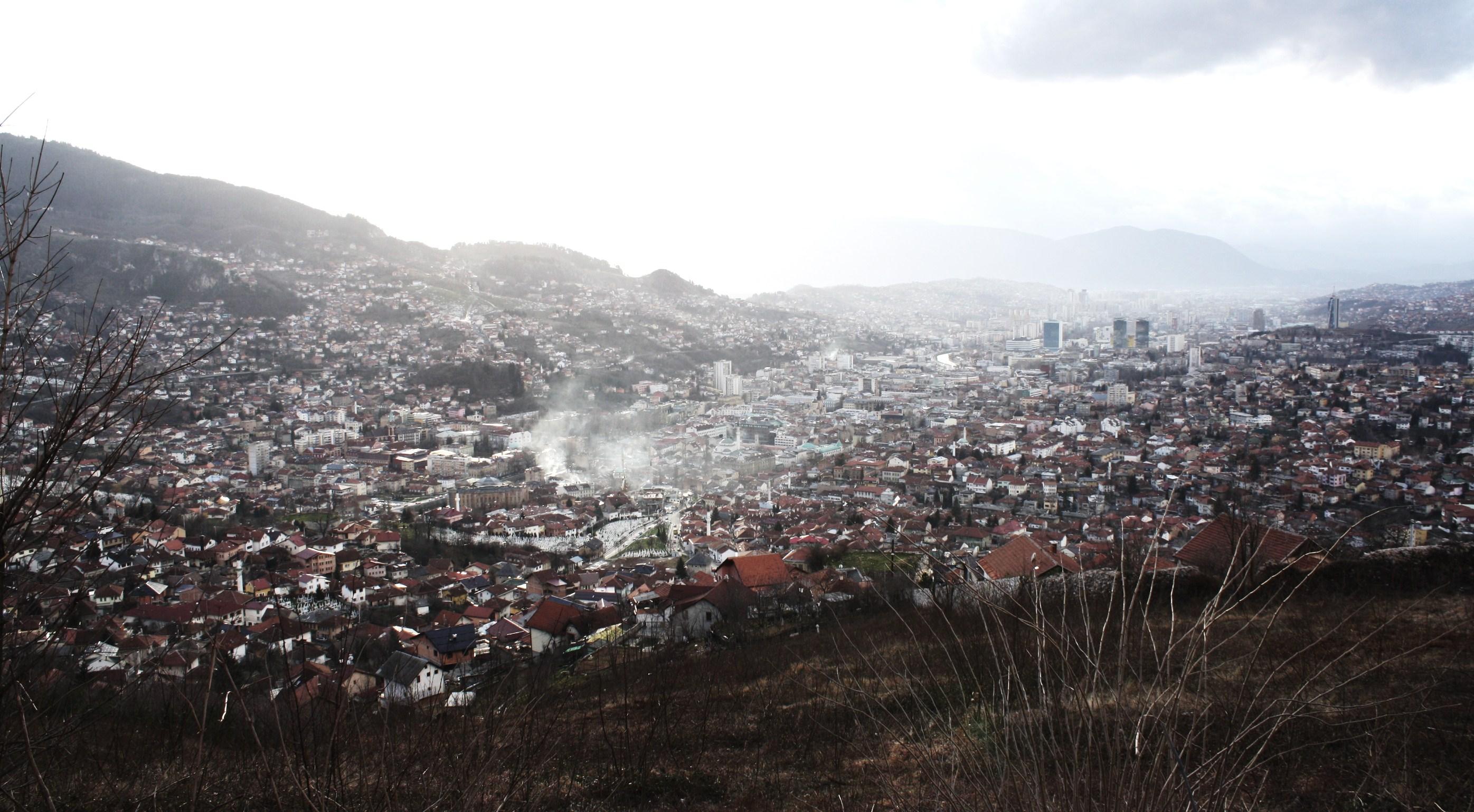 Panoramic view of Sarajevo