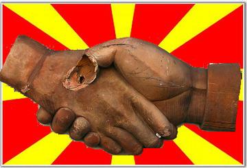 Macedonia, handshakes