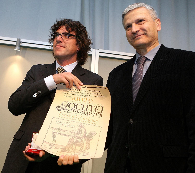 Giuliano Geri col ministro Nebojša Bradić