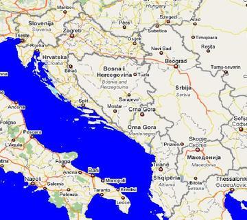 Mappa Balcani