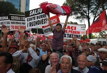 Proteste a Tirana del 21 gennaio 2011