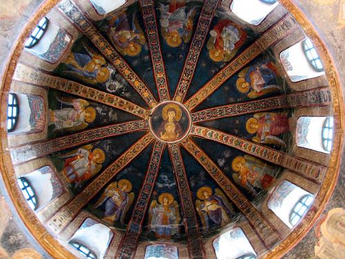 La cupola della basilica paleocristiana del SS. Salvatore in Chora, oggi museo di Kariye, ad Istanbul, con affreschi del 1300