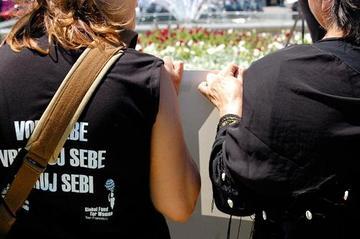 Due attiviste delle Donne in Nero