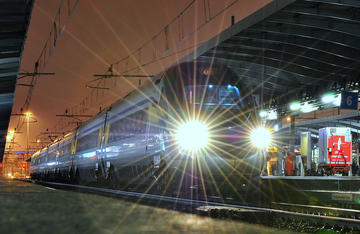 Un treno in partenza da Mestre