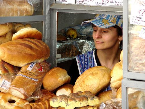 Una rivendita di pane a Timisoara