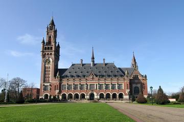 La sede della Corte internazionale di giustizia dell'Onu, a L'Aja, nei Paesi Bassi