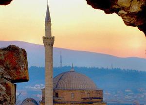 Una moschea a Skopje, in Macedonia