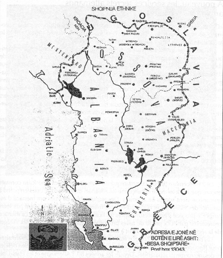 Albania Cartina Stradale.La Grande Albania E L Aspirazione Dei Nazionalisti Albania Aree Home Osservatorio Balcani E Caucaso Transeuropa