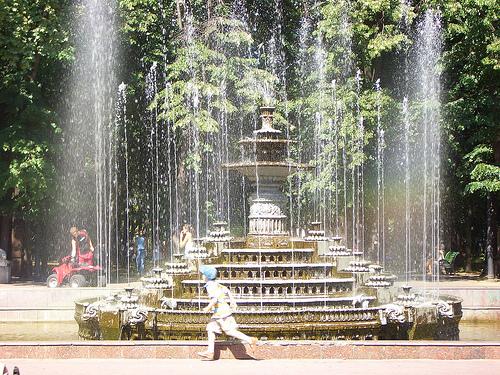 Il parco del centro di Chisinau, capitale della Moldavia